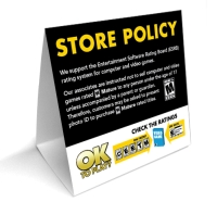 ESRB Store Policy In-store signage