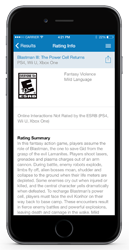 ESRB Rating Search App - Rating Info