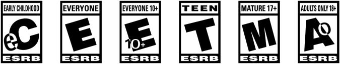 esrb ratings categories