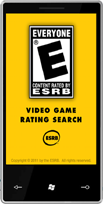 ESRB mobile rating search app for Windows Phone 7