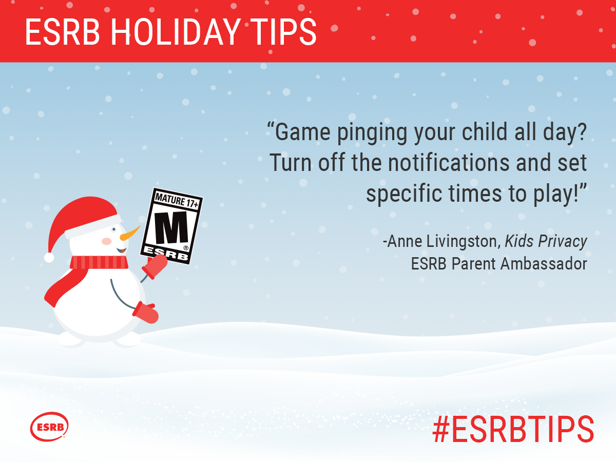 Gaming pinging your child all day? Turn off the notifications and set specific times to play!