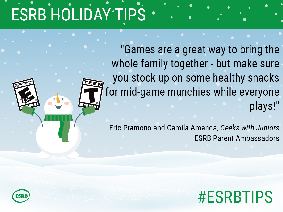 Games are a great way to bring the whole family together - but make sure you stock up on some healthy snacks for mid-game munchies while everyone plays!